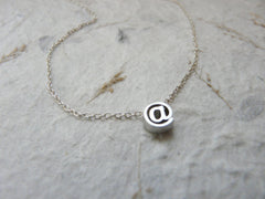 E-mail at sign @ necklace - OpaLandJewelry