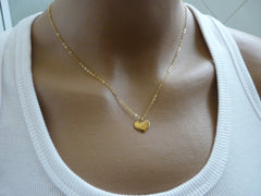 Simple Heart necklace - OpaLandJewelry
