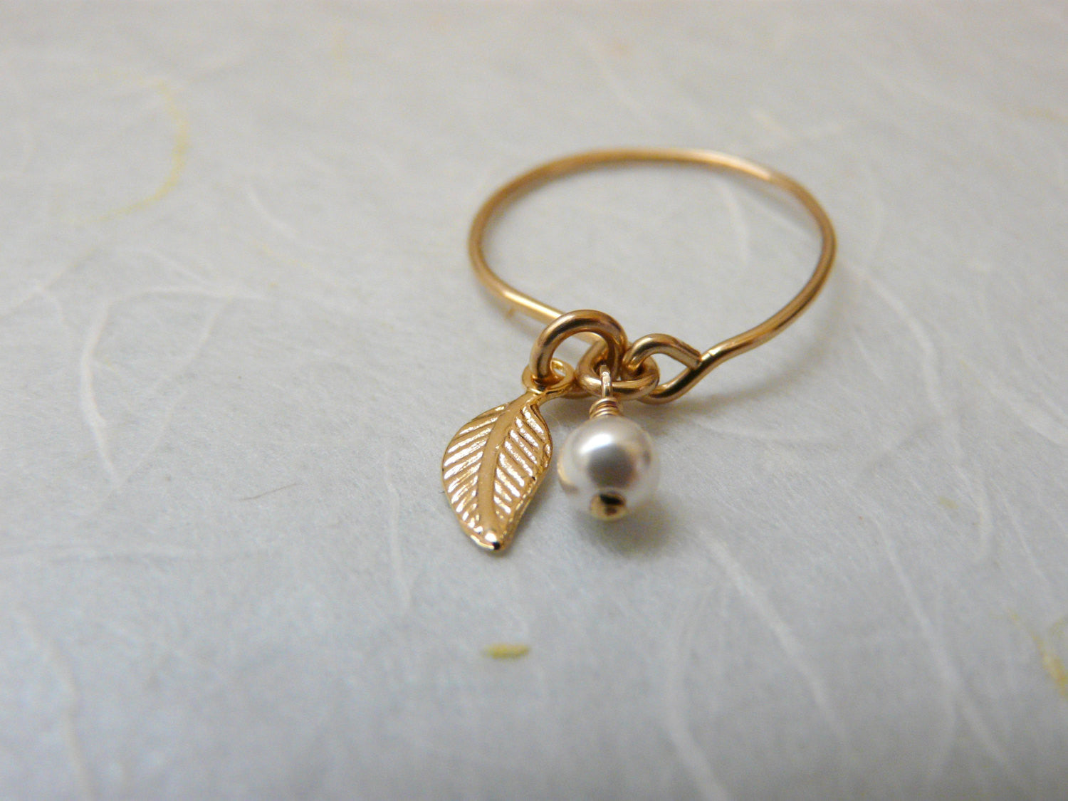 Gold filled charm ring - OpaLandJewelry