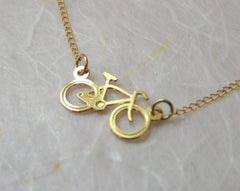 Bicycle Necklace - OpaLandJewelry