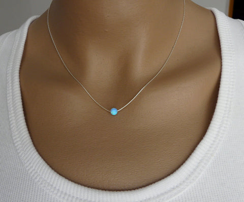 Opal ball necklace - OpaLandJewelry