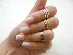 Stacking rings  Set of 9 stack midi rings - OpaLandJewelry