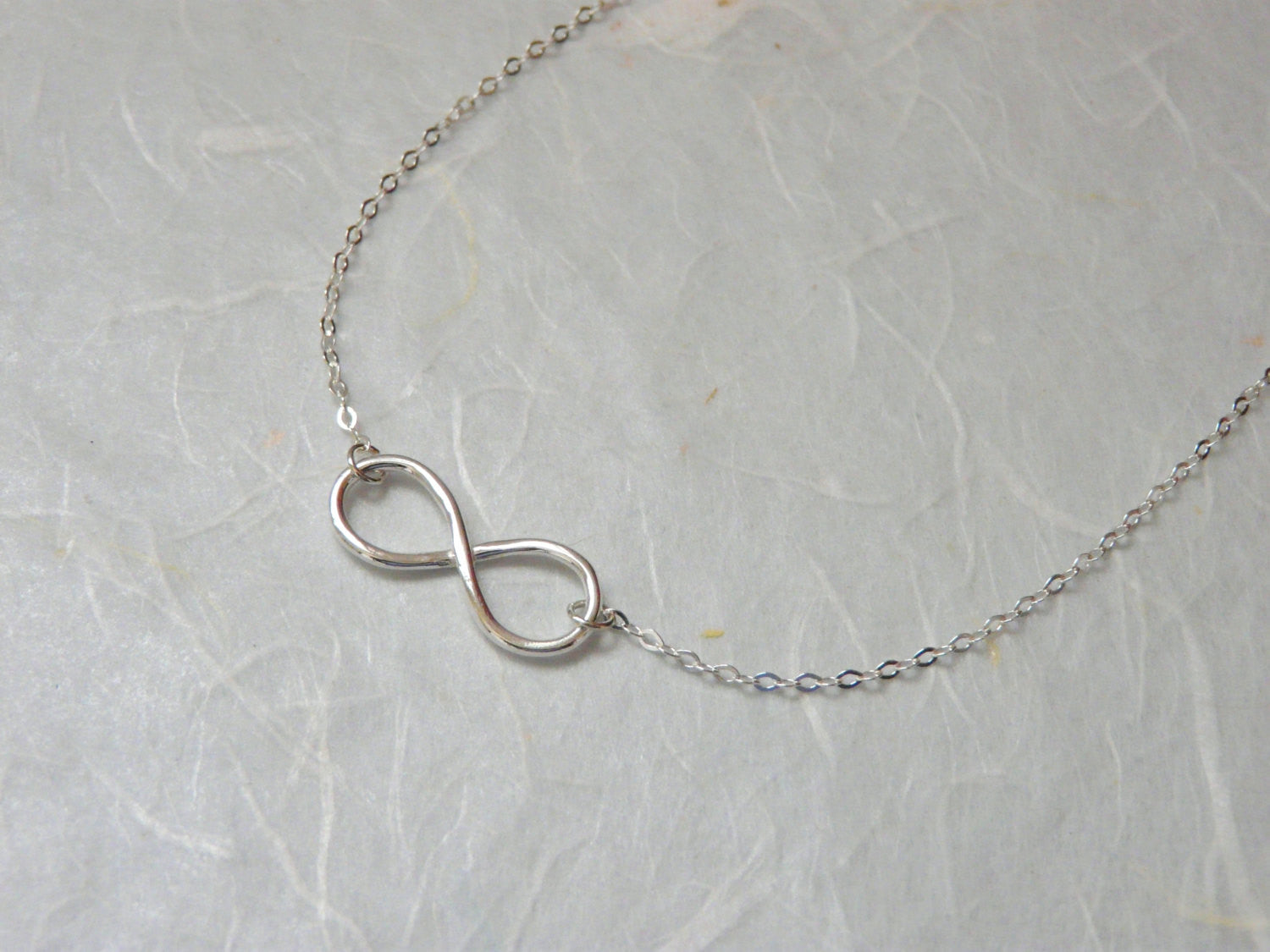 Sterling silver Infinity necklace - OpaLandJewelry
