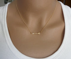 Tiny arrow necklace - OpaLandJewelry