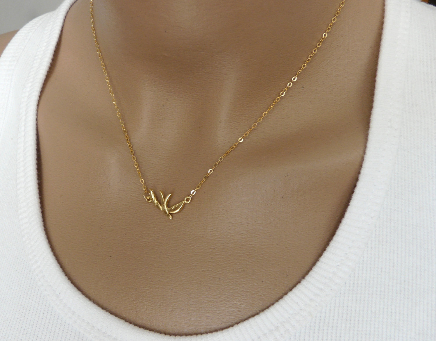 Bird charm necklace - OpaLandJewelry