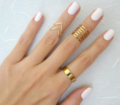 Set of 9 trendy rings - OpaLandJewelry