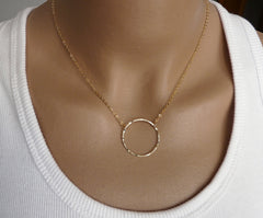 Eternity Gold filled necklace - OpaLandJewelry
