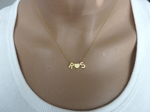 Personalized 3 initials necklace - OpaLandJewelry