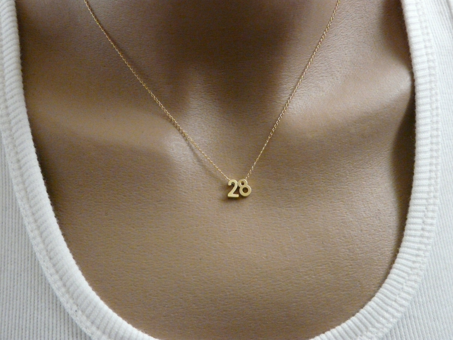 Personalized number necklace - OpaLandJewelry