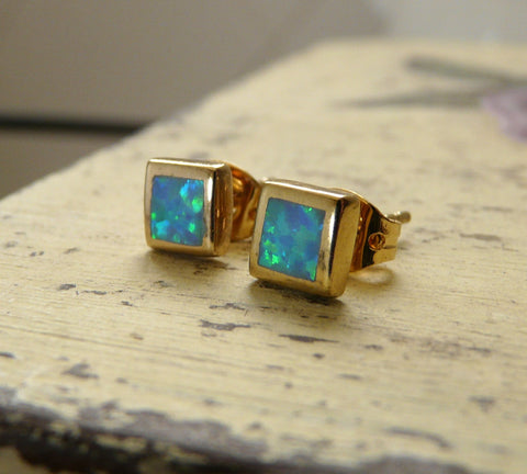 Opal post earrings - OpaLandJewelry