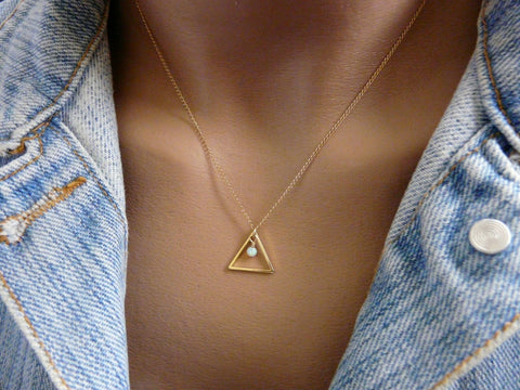Triangle necklace - OpaLandJewelry