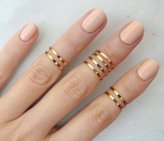 Rose gold midi rings - OpaLandJewelry