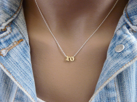 XO necklace - OpaLandJewelry