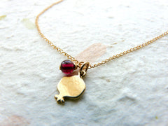 Pomegranate necklace - OpaLandJewelry