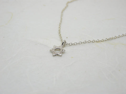 Tiny star of David necklace - OpaLandJewelry