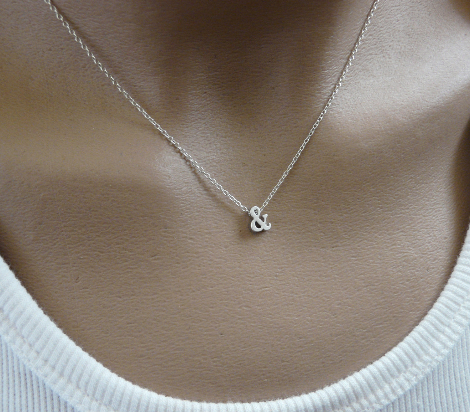 Ampersand necklace Gold / Silver - OpaLandJewelry