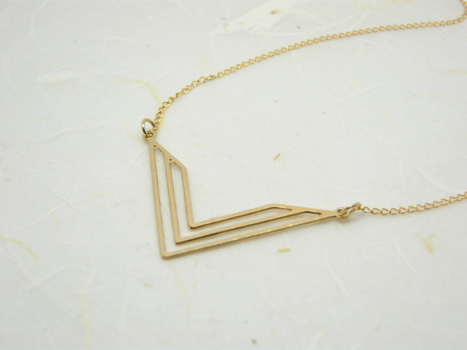 Chevron necklace - OpaLandJewelry