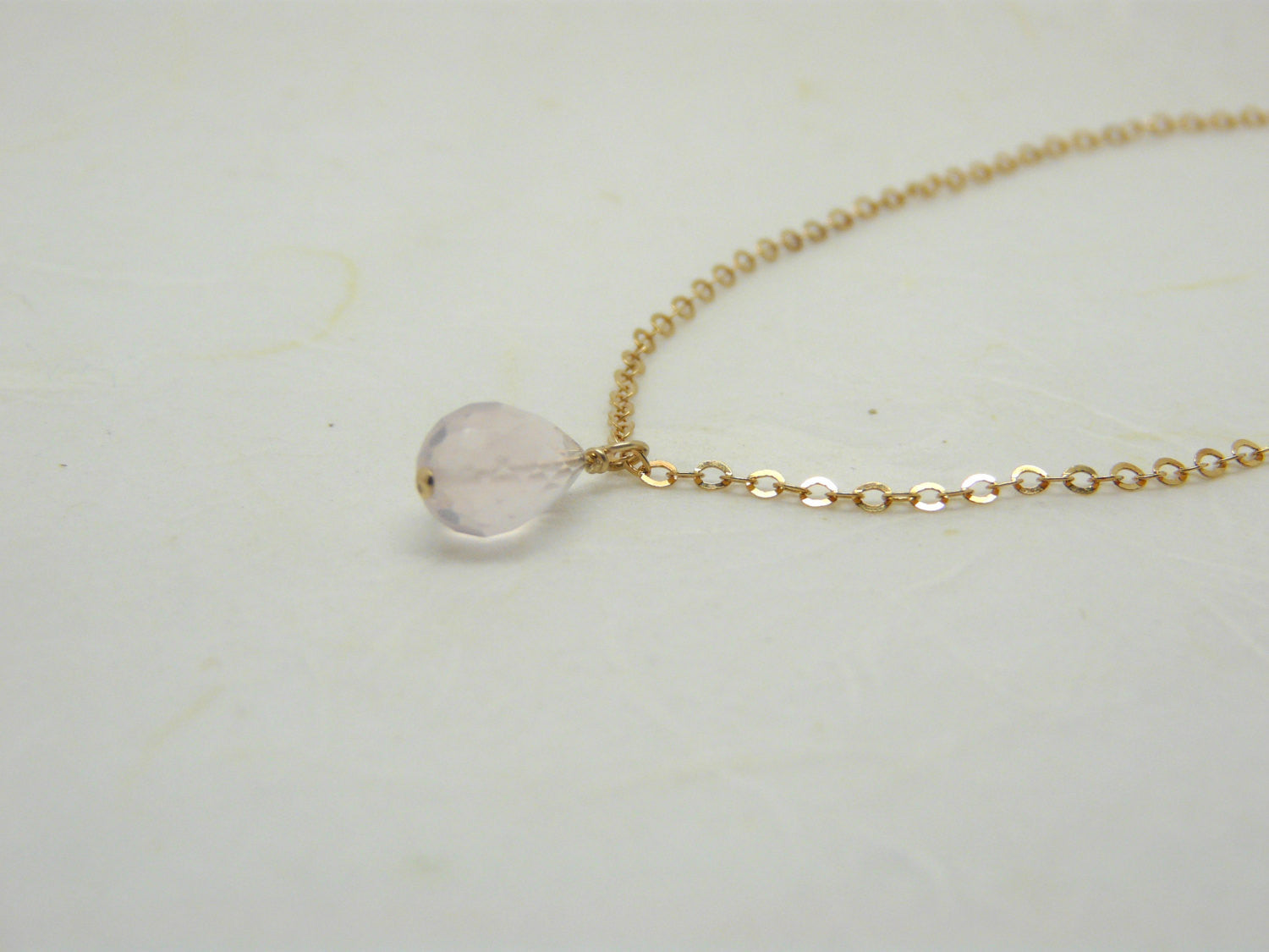 Rose quartz necklace - OpaLandJewelry