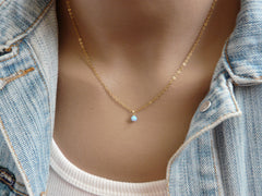 Blue Opal Necklace - OpaLandJewelry