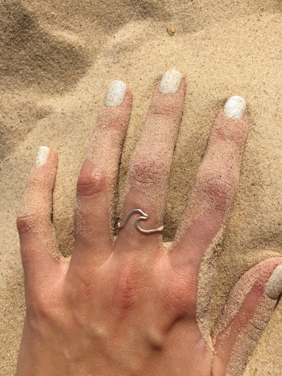 Silver / Gold wave ring - OpaLandJewelry