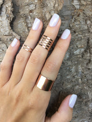 Set of 8 above the knuckle rings - OpaLandJewelry