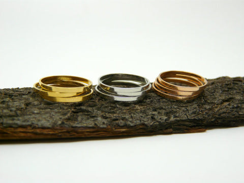 Set of 9 rings Mix colors - OpaLandJewelry