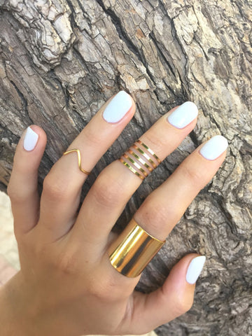 Statement knuckle rings set - OpaLandJewelry