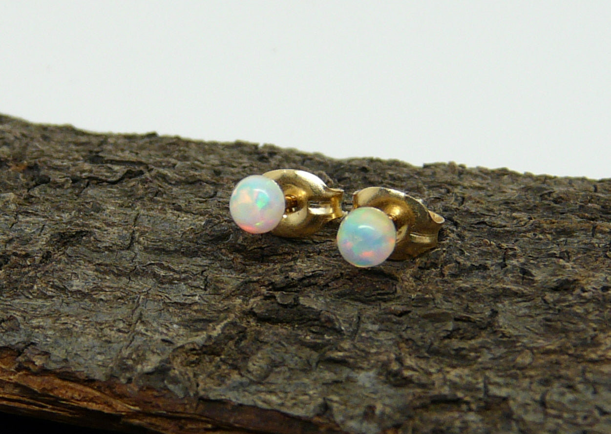 Opal stud earrings - OpaLandJewelry