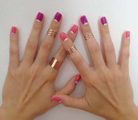 Set of 8 knuckle rings - OpaLandJewelry