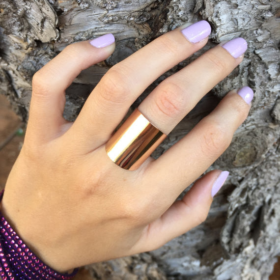 Wide tube ring Gold / Silver / Rose gold - OpaLandJewelry