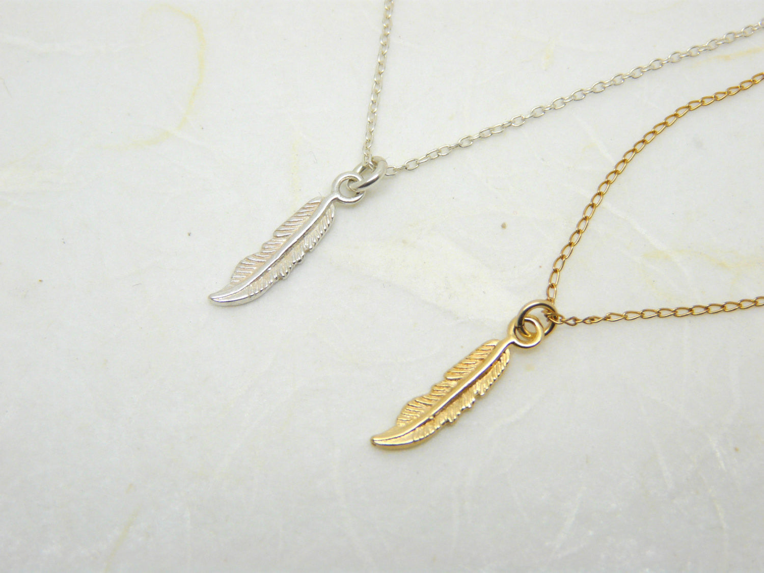 Feather necklace - OpaLandJewelry