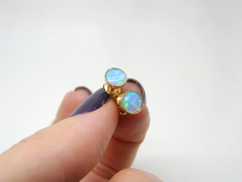 Tiny Opal earrings - OpaLandJewelry
