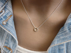 Dainty circle necklace - OpaLandJewelry