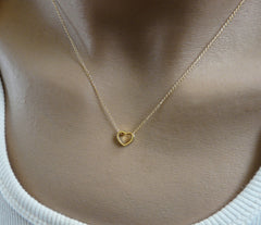 Dainty Heart necklace - OpaLandJewelry