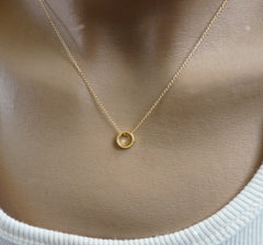 Delicate circle necklace - OpaLandJewelry