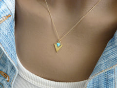 Turquoise Geometric necklace - OpaLandJewelry
