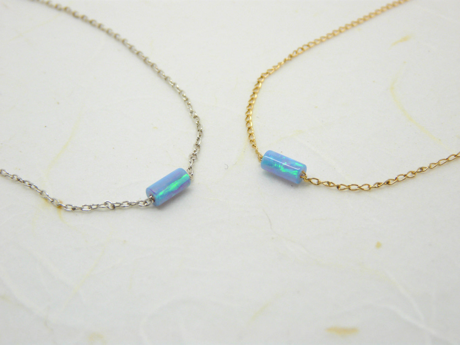 Tube opal necklace - OpaLandJewelry