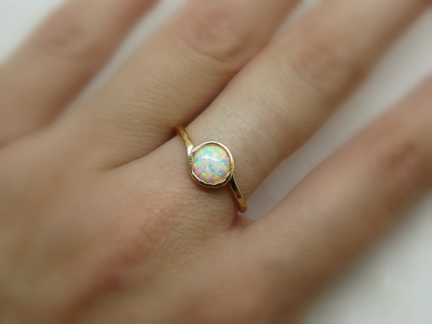 Gold Filled opal ring - OpaLandJewelry