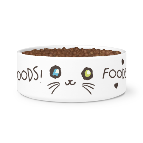 Curious Kitties Shop Unique Cat Gift Idea: Majestic Mew ◈ Cat Food Bowl