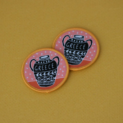 Greek Vase Sew On Patch