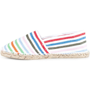 Striped White Espadrilles