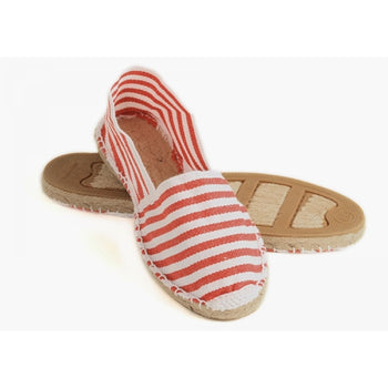 Red Striped Espadrilles