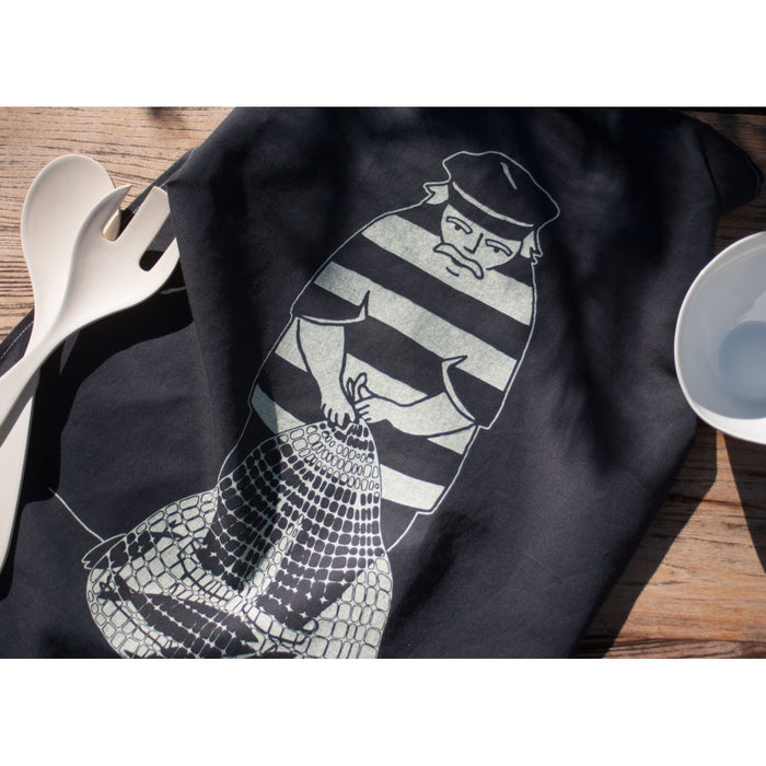 Blue Fisherman Tea Towel