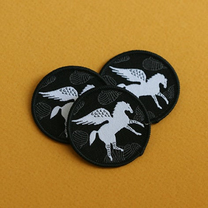 White Pegasus Sew On Patch
