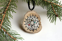 Dreamcatcher Moose Antler Pendant