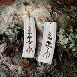 Deer Antler Tree Earrings