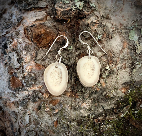 Dangling Deer Antler Earrings