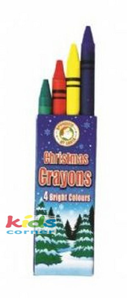 Pack of 4 Colouring Crayons - Kidscorner