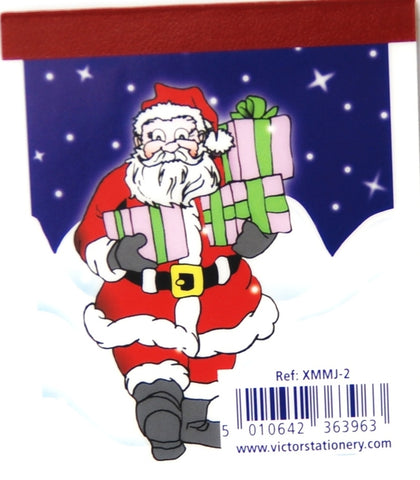 Christmas Lined Notepads Santa Design - Kidscorner
