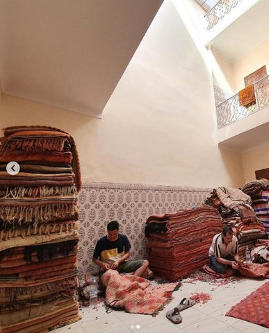 Rug repairs in Marrakech
